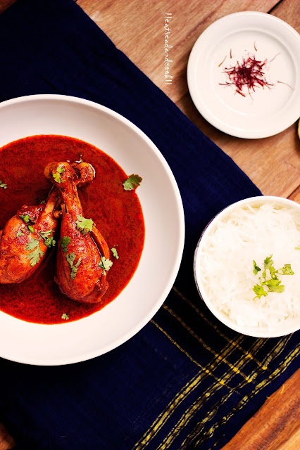 how to make Rogan Josh / Kashmiri Red Chicken Curry recipe and preparation