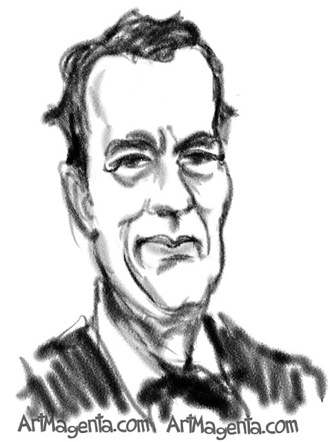 Tom Hanks is a caricature by caricaturist Artmagenta