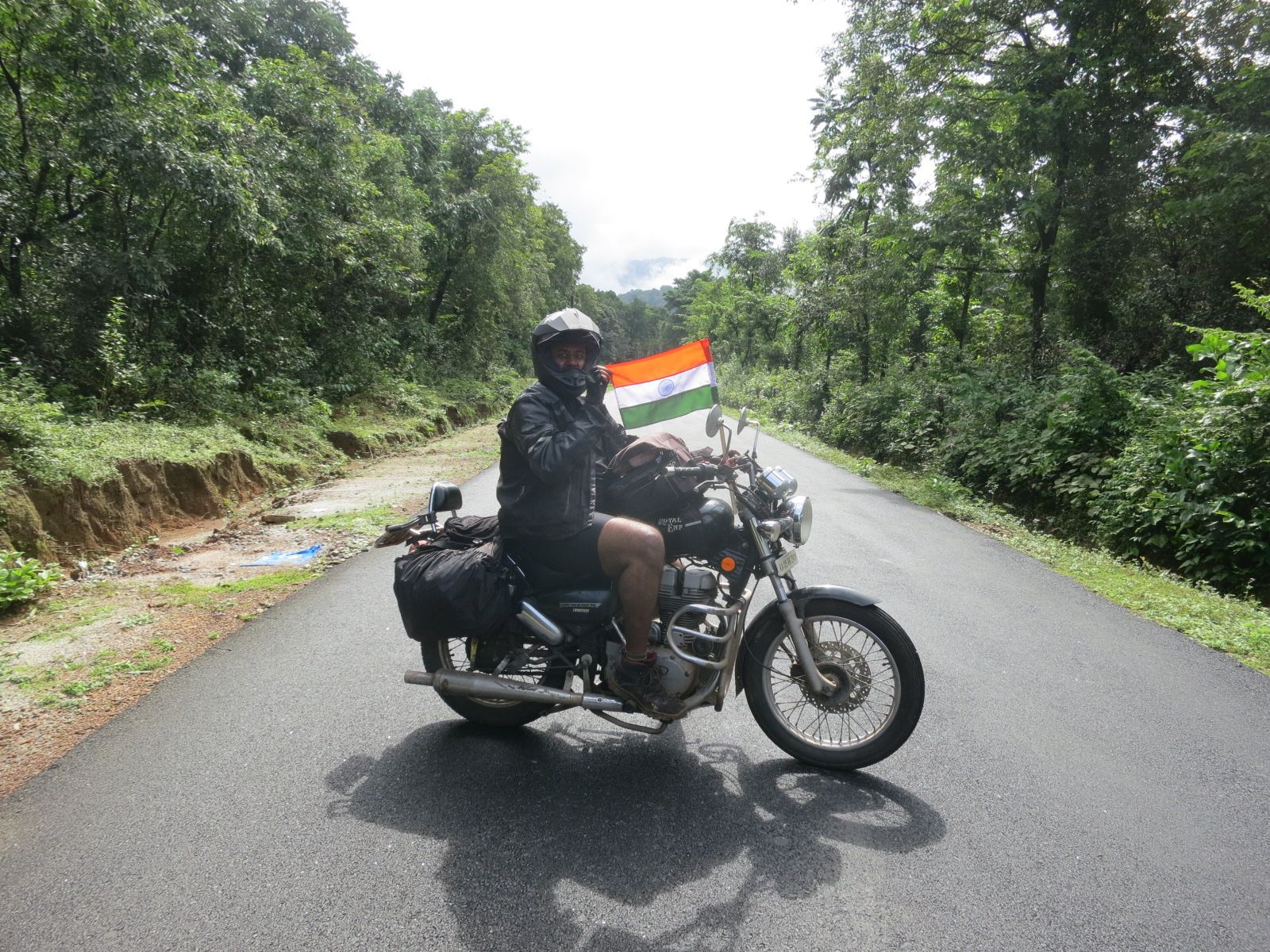 Independence day motorcycle ride through the rainforests of Agumbe