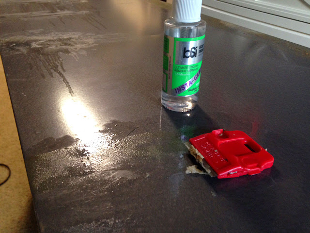 Removing Masking Tape Residue - Insta-Clean Sticker Remover - BSI Adhesives