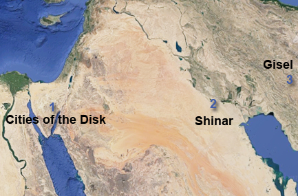 Cities of the Disk, Plain of Shinar, and the Mil-Gisel site