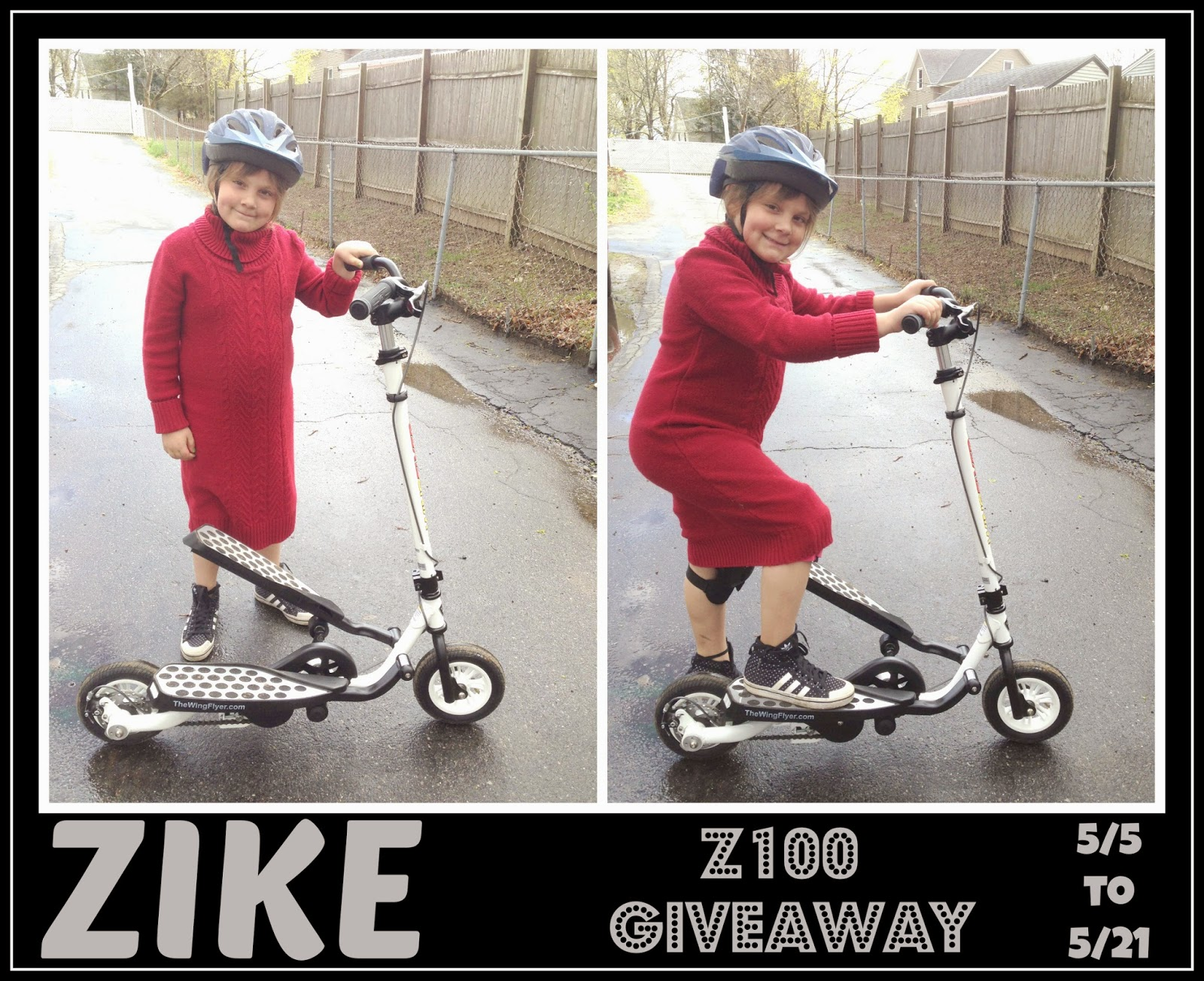 Enter The Zike Z100 Scooter Giveaway. Ends 5/31.