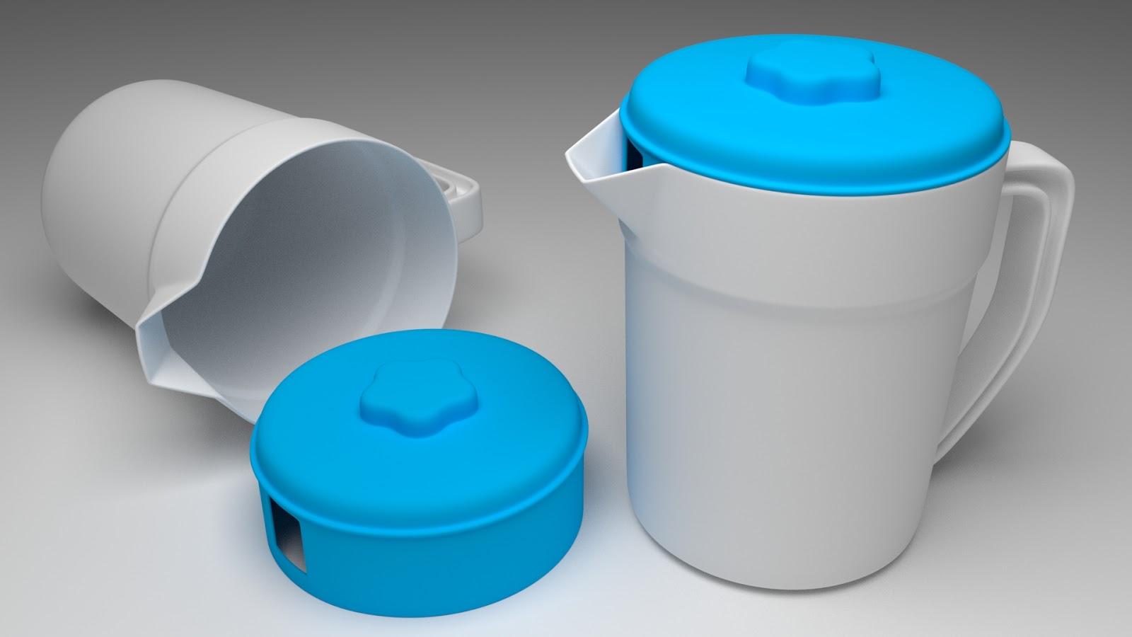 Free 3D Plastic Teapot .blend file