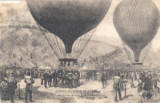 1870 Ballon Monte hava posta taşıması