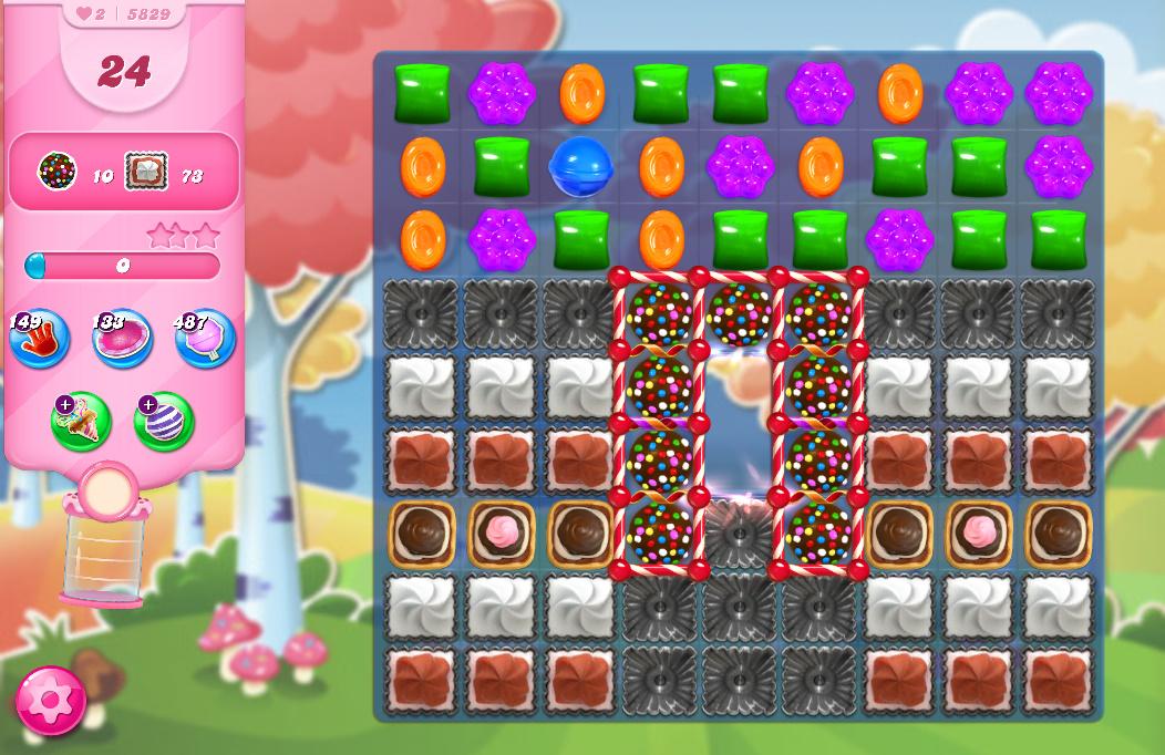Candy Crush Saga level 5829