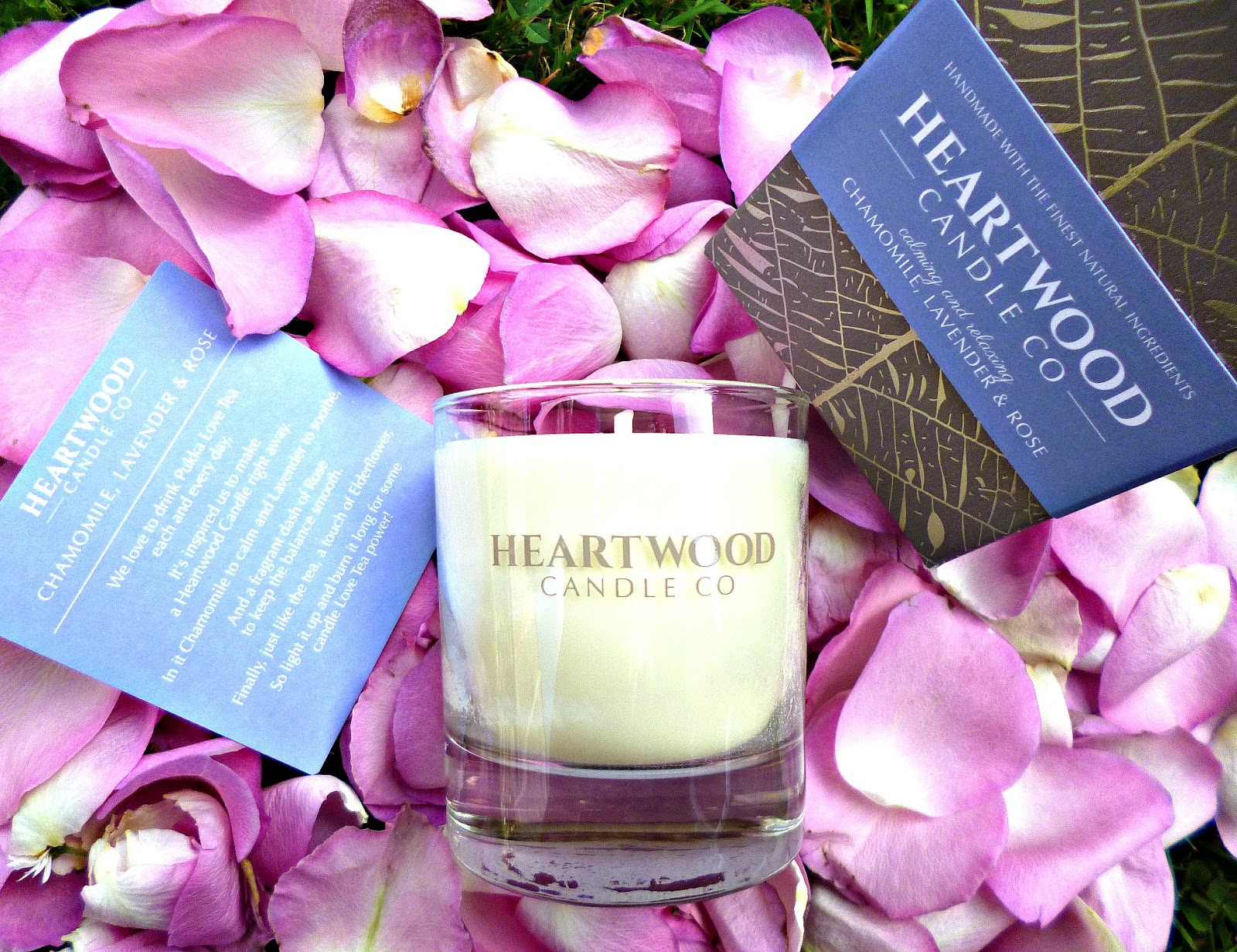 Heartwood candle company Chamomile, lavender and rose candle