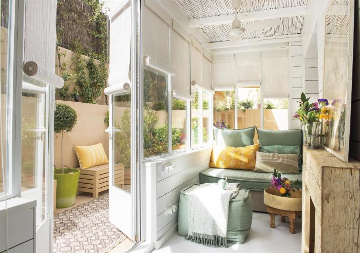 Decoraci n f cil una casa de pueblo con un patio interior para so ar - Casas con patio interior ...