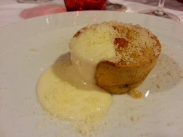 Muffin salato con mortadella e scamorza