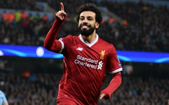 Mohamed Salah has been named the Champions League player of the Week