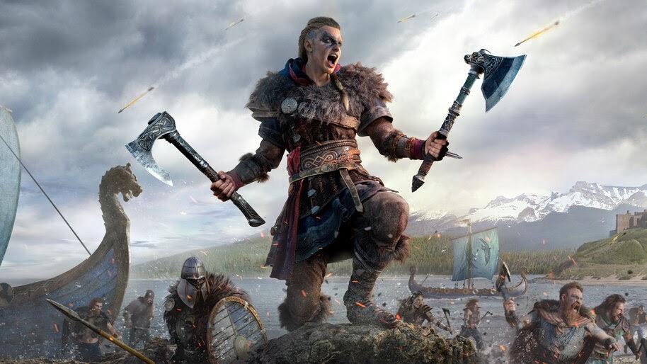 Eivor, Female, Assassins Creed Valhalla, Viking, Army, 8K, #7.2253