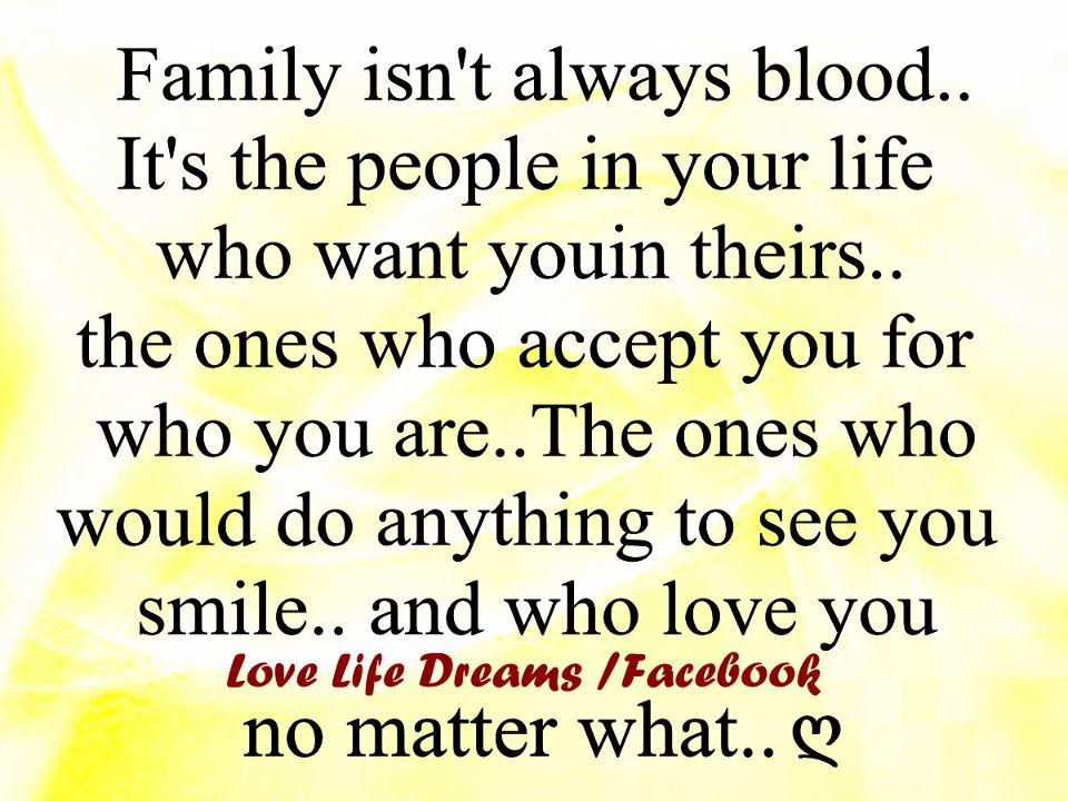 Love Life Dreams: Family Isn't Always Blood