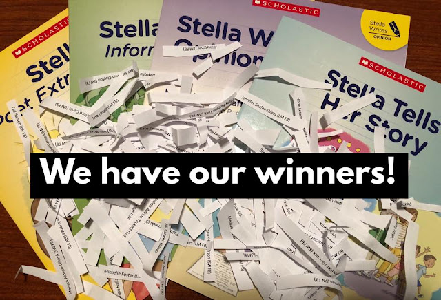 Winners in the Stella Writes giveaway, May 13, 2018.
