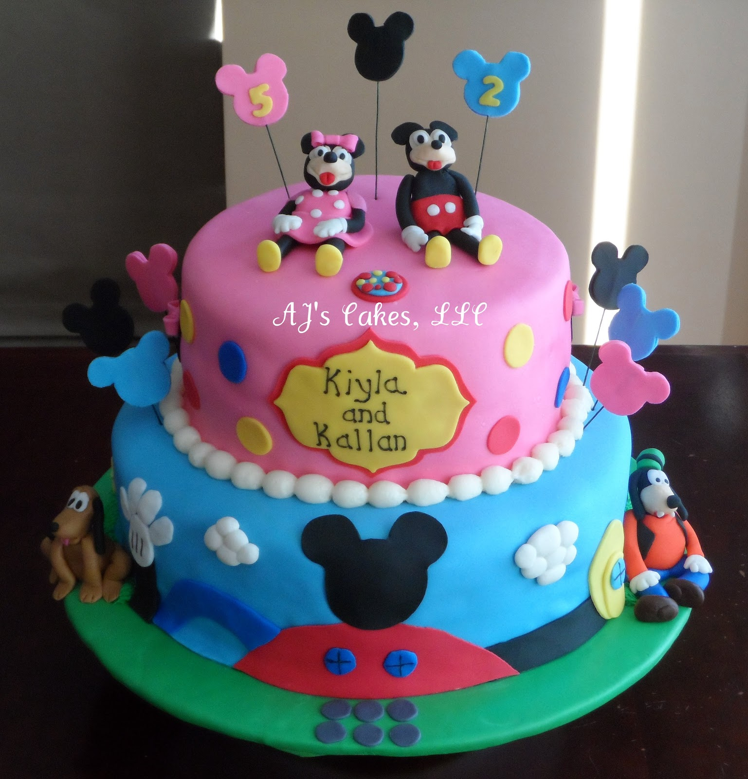 Mickey Mouse Smash Cake: AJ's Cakes: Mickey Mouse Clubhouse Cake And Smash Cakes