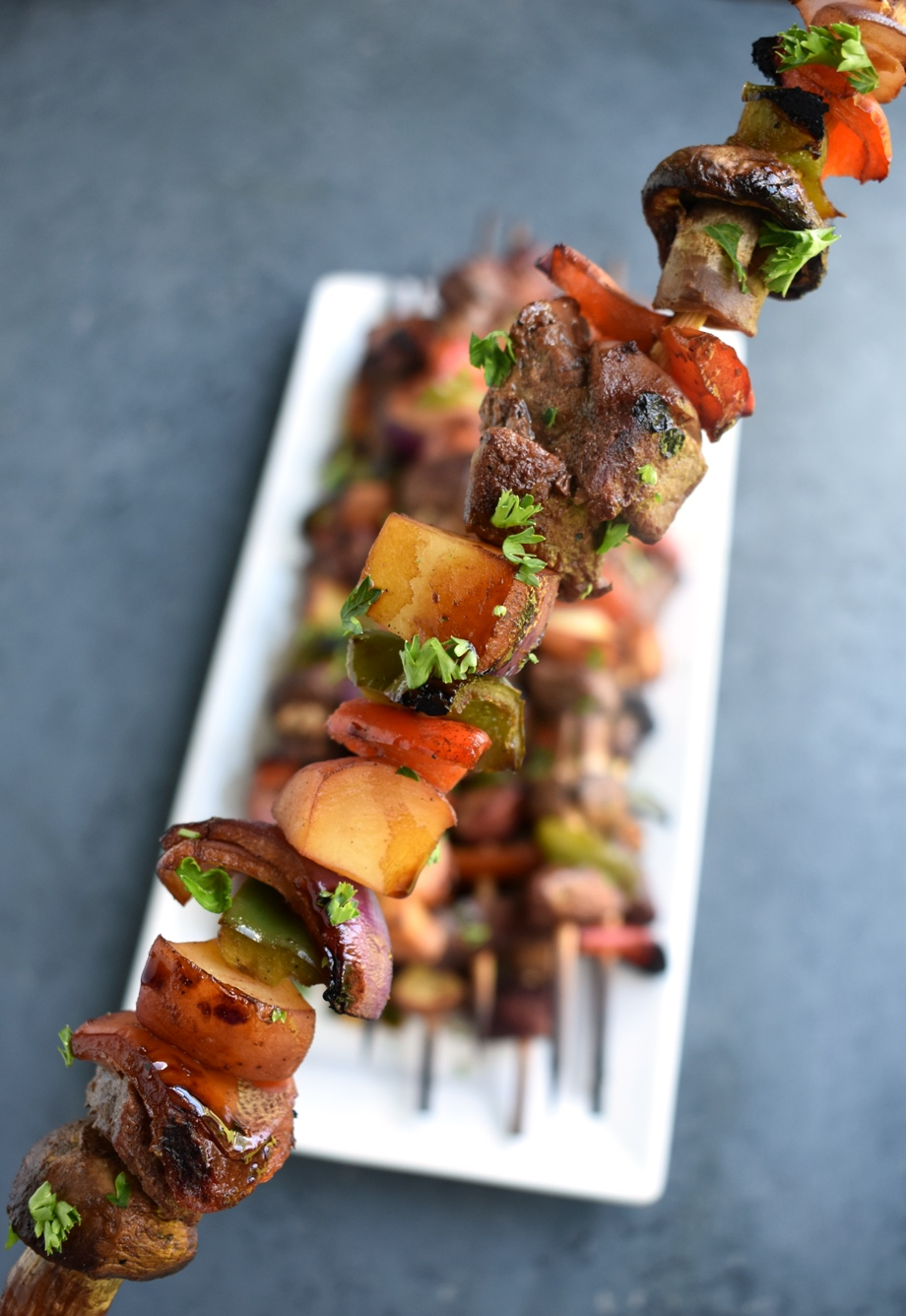 Asian steak kebabs