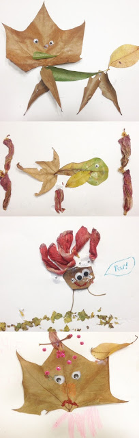 fall leaf animals art pictures examples