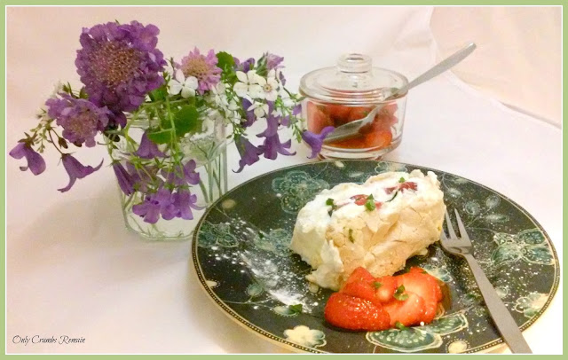 Summer Strawberry Roulade with Basil & Mascarpone