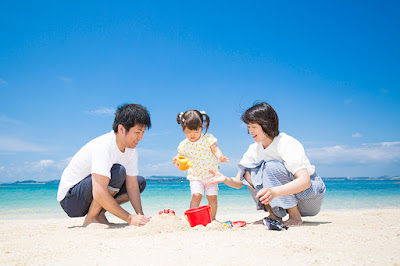 沖縄 キッズフォト 海