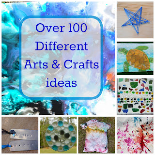 Over 100 Different Arts & Crafts Ideas from Our Unschooling Journey Through Life @ OurUnschoolingJourney.com