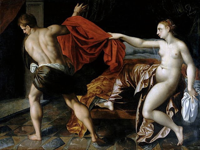 Jacob De Backer (seguace di): Giuseppe e la moglie di Putifarre