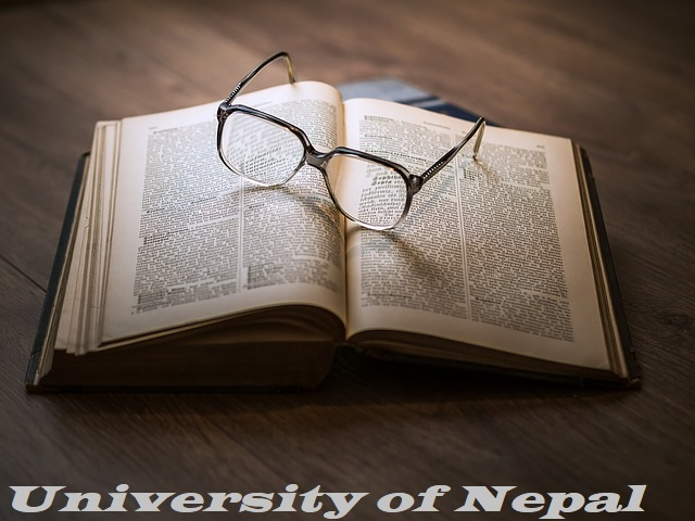 Universities of Nepal- book and eye glass