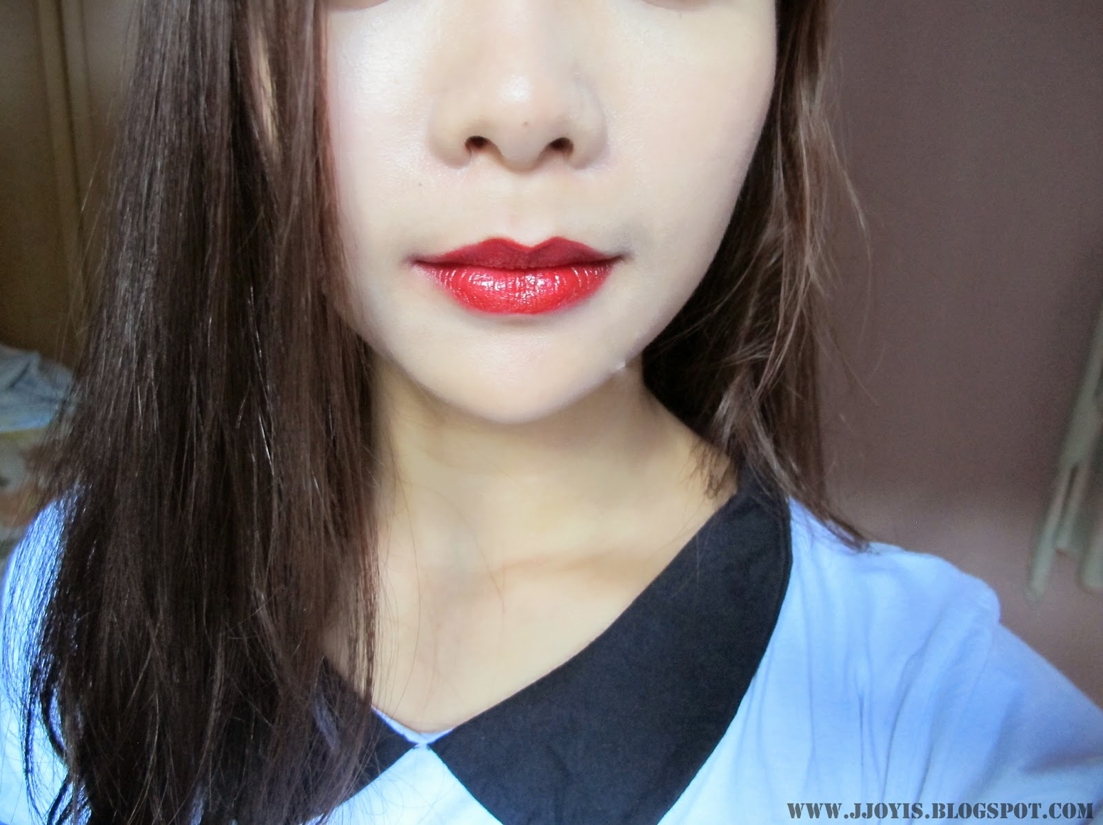 TheFaceShop Black Label Lipstick #10 Fashion red swatch