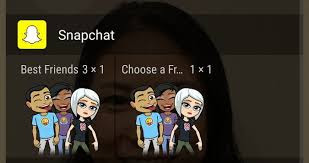 turn bitmoji in homescreen widgets snapchat