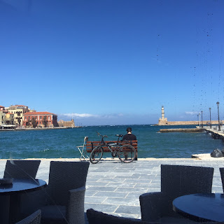 Chania Crete Greece dining on the water