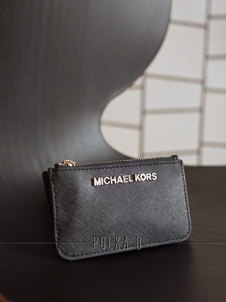 b200ad5c501c Michael Kors Jet Set Travel Key Pouch - Black | Polka B - Authentic ...