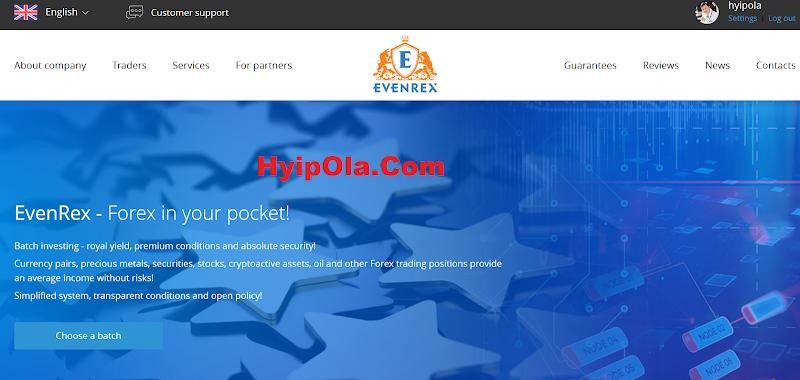 [SCAM] Review EvenRex.com [HK] - Đầu tư lâu dài cùng công ty chuyên về Forex tại Hong Kong