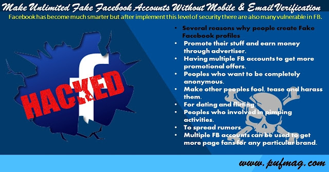 Make Unlimited Fake Facebook Accounts Without Mobile & Email Verification
