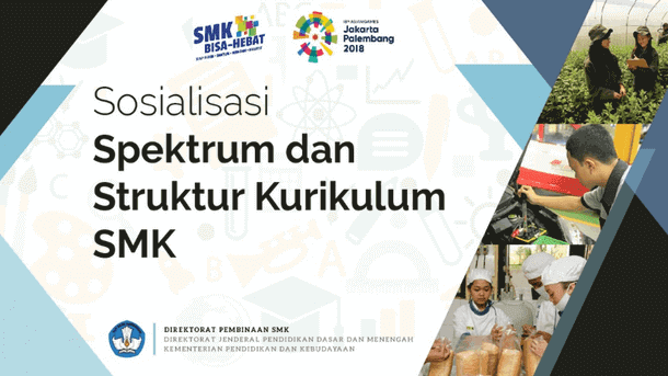 Spektrum dan Struktur Kurikulum SMK 2018