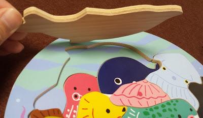 木製パズルシリーズ 2層パズルフィッシング(ピース裏)