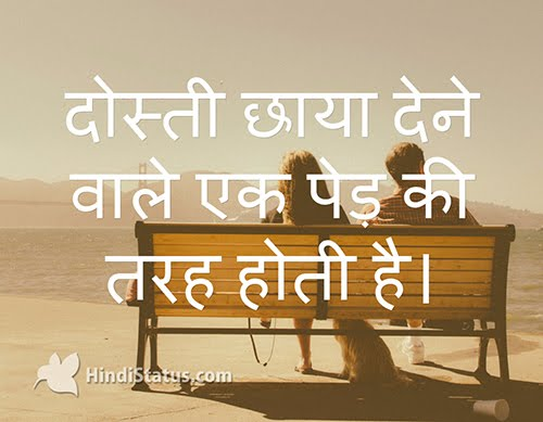 Friendship is Like a Tree Giving Shade - HindiStatus
