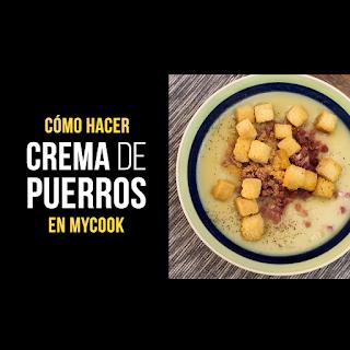 Crema de Puerros y Manzana en MyCook