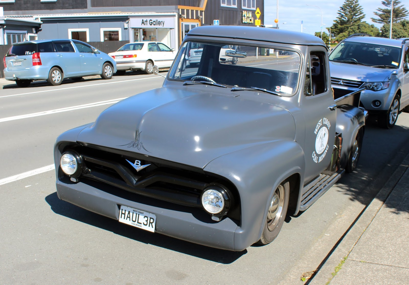 Transpress Nz 1955 Ford F100 With Some Hot Rod Treatment Parts
