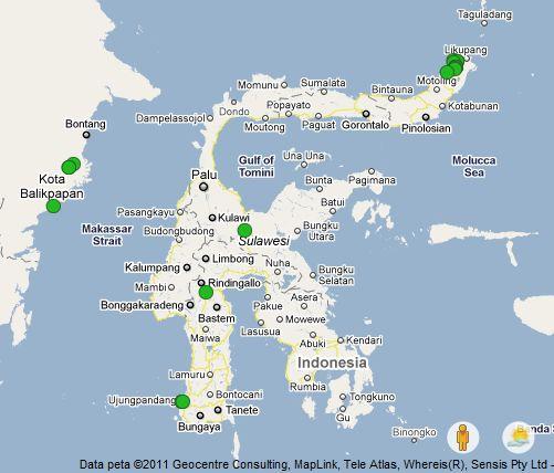Map Makassar Sulawesi Selatan - Modern Home Interior Design