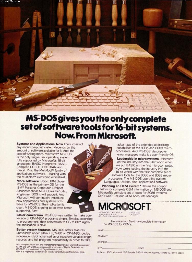 Overyourhead Ms Dos Advert