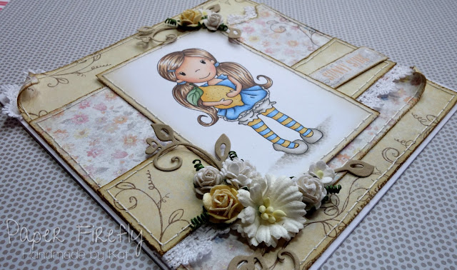 Handmade card with Lemon Ellie image by The Paper Nest Dolls