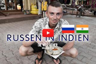 Goa Indien das Paradies für russische Touristen Alkohol ist supergünstig und Essen wie in der Heimat