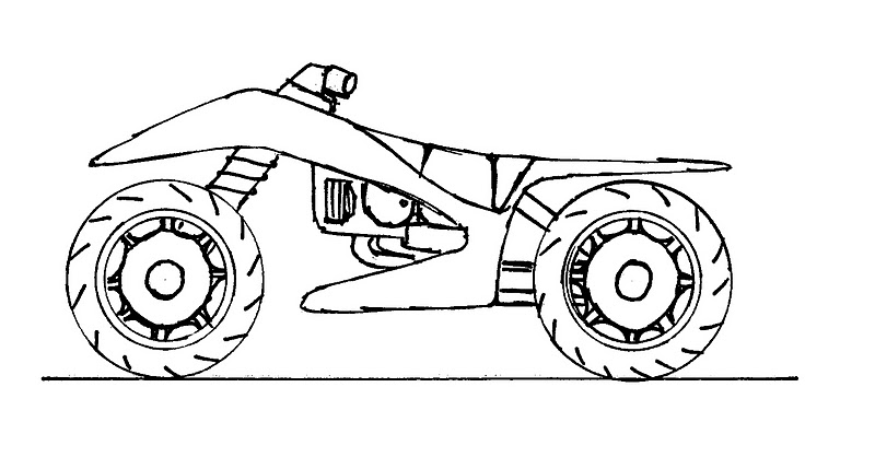 ART AND DESIGN STUDENT: Quad Bike Sketches