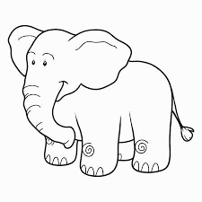 Printable Cute Elephant Coloring Pages For Kids
