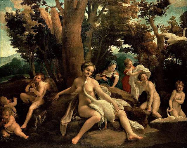 La versión del mito de Leda y el Cisne pintada por Correggio