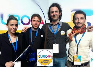 Più Europa Marche: Raffaella Stacciarini, Matteo Mainardi, Enzo Gravina e Michele Governatori