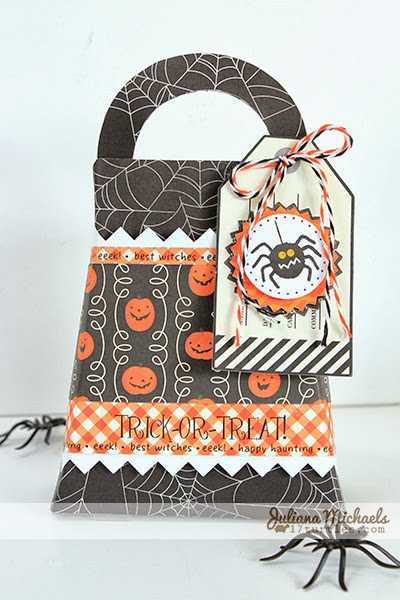 Spooky Halloween Table Decor Treat Bag by Juliana Michaels