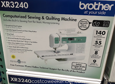 Sew a quilt or a scarf with the Brother XR3240 Computerized Sewing & Quilting Machine