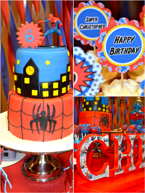 Amazing Spiderman Inspired Birthday Party Ideas - via BirdsParty.com