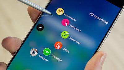 """حمل هذا التطبيق لتحصل على ميزة """" 'Air Command """" الموجودة في هاتف Galaxy Note5"""