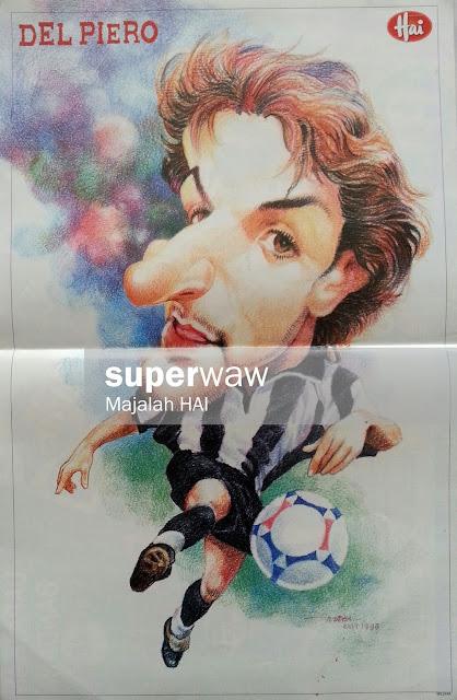 Poster Karikatur Del Piero (Juventus)