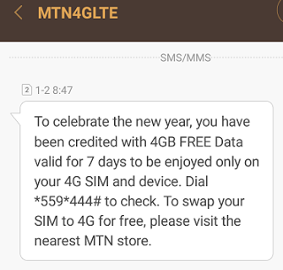 Get Free MTN 4GB worth Of data - Download Unlimited With Mtn.