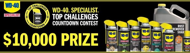WD-40 wants to know how you have used their product to solve some tough challenges. Share with them and you could win a whopping $10,000 CASH!